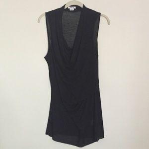 Tissue weight knit sleeveless top S